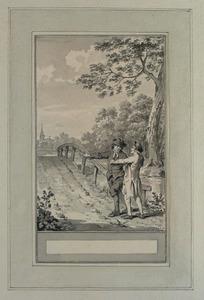 Illustratie bij 'De boer en zijn zoon' uit de Fabelen en vertelsels van F.C. Gellert