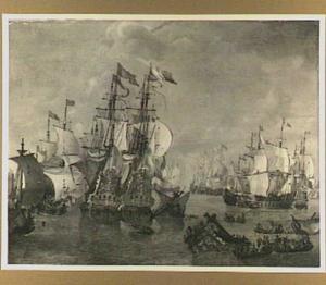 Slag in de Sont tussen Zweedse en Hollandse schepen