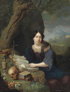 Portret van een jonge vrouw als de boetvaardige Maria Magdalena