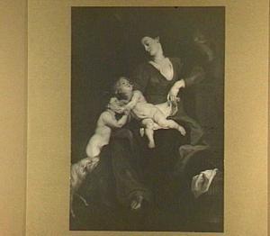 De Heilige familie met Johannes de Doper als kind