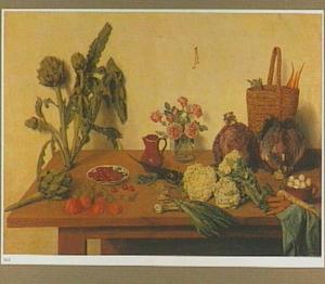 Groente en fruit op een tafel