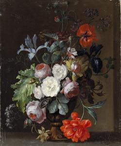 Stilleven van bloemen in een vaas