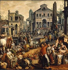 Marktscène met Ecce Homo