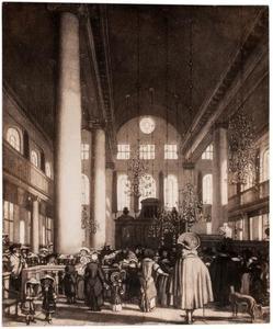 Interieur van de Portugese Synagoge te Amsterdam