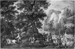 De dood van Absalom (2 Samuel 18: 9-15)