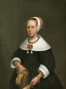 Portret van een onbekend 10-jarig meisje