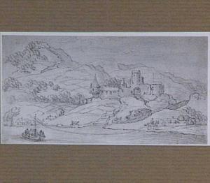 Vervallen kasteel aan de Rijn