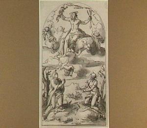 Het laatste oordeel met Christus, Johannes de Doper en Maria