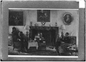 Dubbelportret van Wouter Everard van Weede (1887-1974) en Sophia Wilhelmina van Heeckeren van Kell (1892-1967)