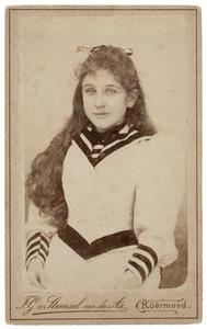 Portret van een meisje, mogelijk Maria Johanna Thämer (1884-...)