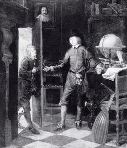 Twee jonge mannen in een studeerkamer