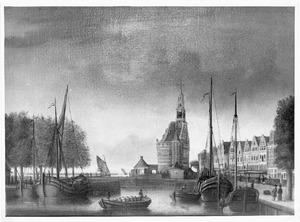 Gezicht op de haven van Hoorn