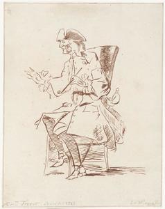 Portret van Jacob da Carpi (1685-1755)