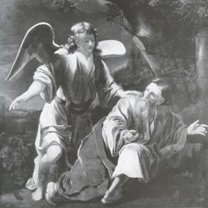 De profeet Elia gewekt door een engel op de berg Horeb