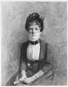Portret van een dame in het blauw