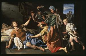 De zelfmoord van Marcus Junius Brutus (42 voor Chr.)