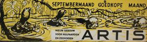 Artis-Septembermaand-Tram-Affiche: Nieuw gebouw voor nijlpaarden en zeekoeien