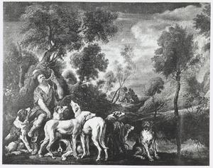 Piqueur met jachthonden