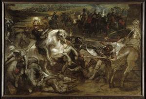 Hendrik IV in de slag bij Ivry