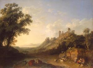 Gezicht op de ruïnes van Agrigentum