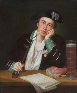 Portret van de Duits/Zweedse componist Josef Martin Kraus ('der Odenwälder Mozart', 1756-1792)
