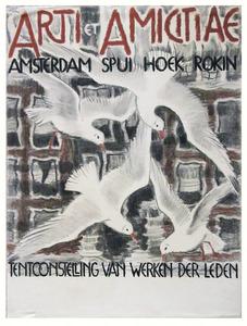 ontwerp affiche tentoonstelling Arti et Amicitiae, Amsterdam