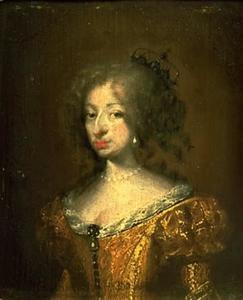 Portret van Koningin Charlotte Amalia (1650-1714), echtgenote van Christiaan V