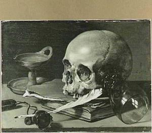 Vanitasstilleven met schedel