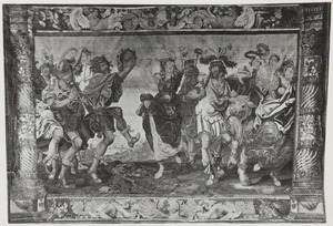 Theseus overwint de stier van Marathon