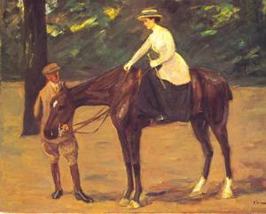 De dochter van de schilder gaat rijden