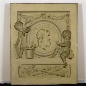 Allegorische voorstelling in betrekking tot Aesculapios