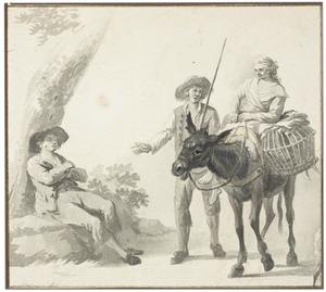 Figuren en een ezel
