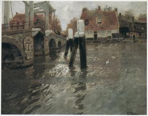 Brug over een Hollands kanaal
