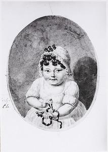Portret van Johanna Sandrina Elizabeth Enschedé (1798-1821)