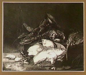 Visstilleven met kreeft
