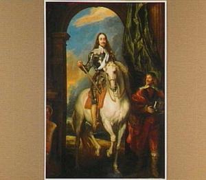 Ruiterportret van Karel I Stuart (1600-1649), met zijn stalmeester M. de St. Antoine (?-?)