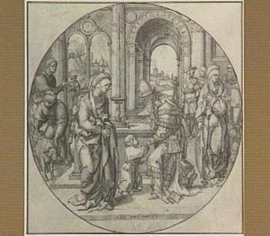 Hanna brengt Samuël naar de hogepriester Eli in de tempel van Silo (1 Samuël 1:24)