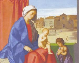 De Madonna met de heilige Johannes de Doper als kind
