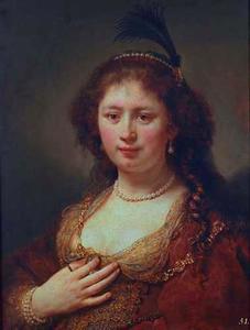 Portret van een vrouw, mogelijk Sara van Baerle (1603-?)