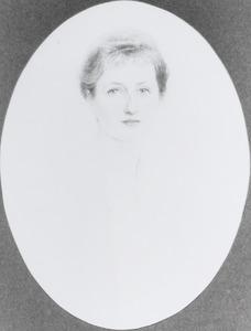 Portret van Wilhelmina Emilia Maria Regout (1892-1986)