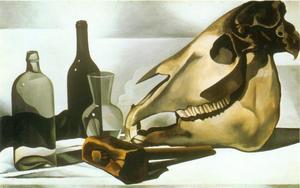 Stilleven met schedel van een paard