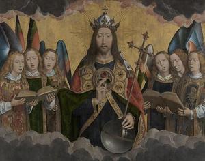 God de Vader met zingende engelen