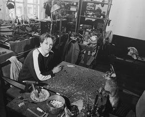 Merijn Bolink in zijn atelier