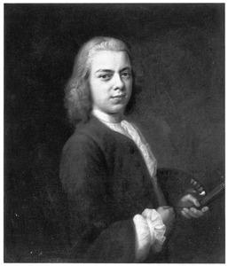 Portret van een man, waarschijnlijk Jacob Denner (1722-1765) of mogelijk Balthasar Denner (1685-1749)