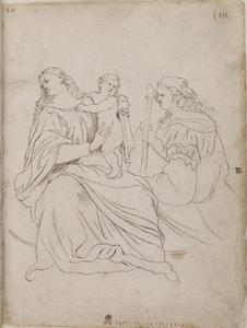 Maria en Kind met St. Catharina, naar Titiaan