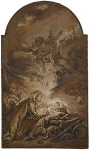 De Maagd wakend over de slapende Jezus