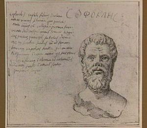 Portretbuste van de Griekse tragediedichter Sophocles