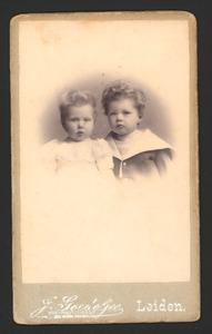 Portret van Simon Adrianus de Graaff (1896-1971) en Jacoba Gerarda de Graaff (1897-1985)