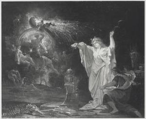 Nachtelijke scène met tovenares