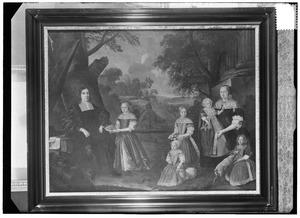 Portret van een familie, traditioneel genaamd Smeding